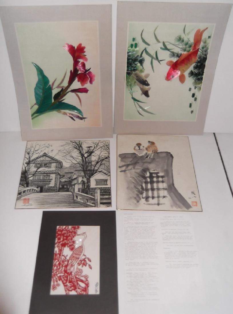 5 piece Japanese artwork lot
