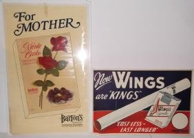 2 advertising posters
