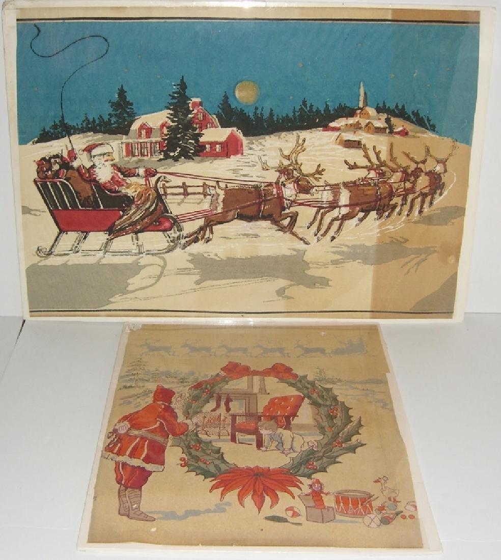 Christmas Santa Claus scene tissue paper