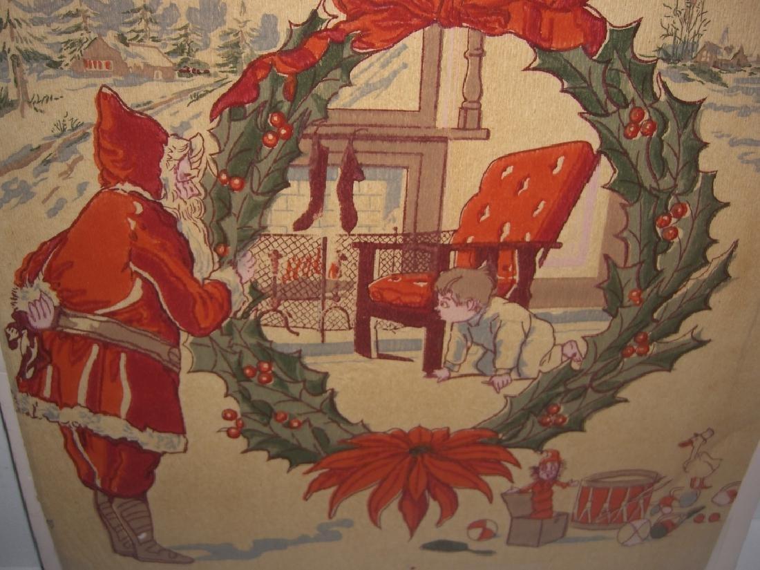 Christmas Santa Claus scene tissue paper - 2