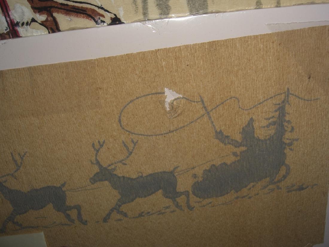Christmas Santa Claus scene tissue paper - 3