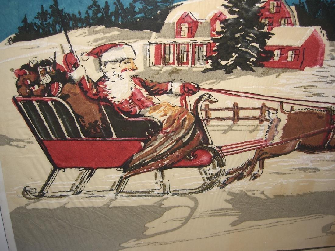 Christmas Santa Claus scene tissue paper - 4