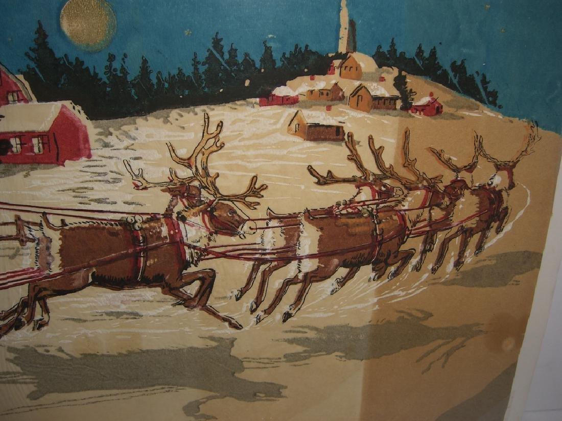 Christmas Santa Claus scene tissue paper - 5