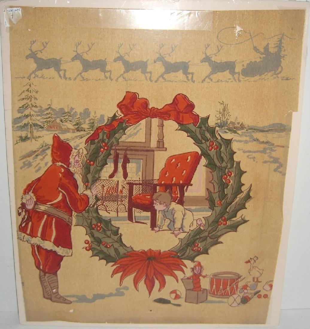 Christmas Santa Claus scene tissue paper - 6