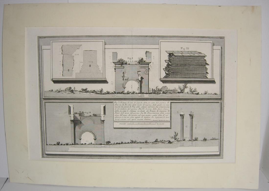 Large 19th c architecture diagram engraving