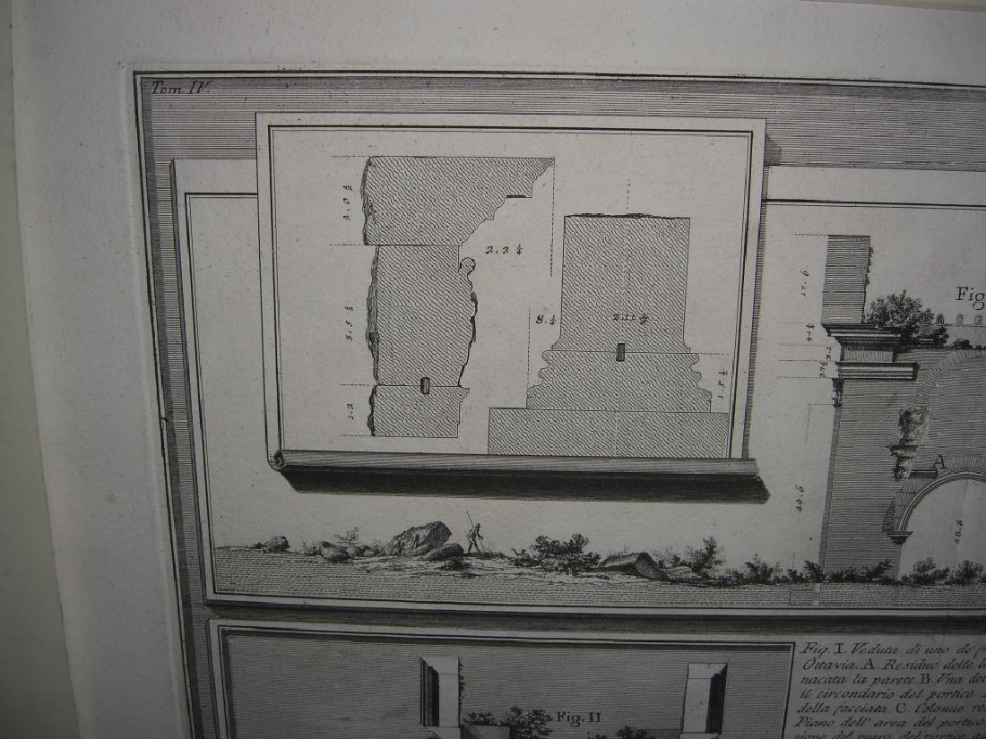Large 19th c architecture diagram engraving - 4