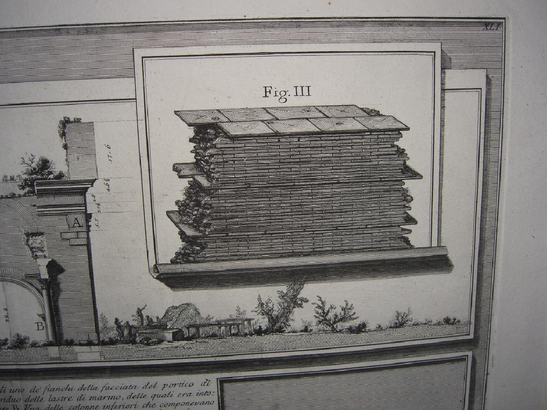 Large 19th c architecture diagram engraving - 6
