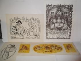 4 piece judaica artwork