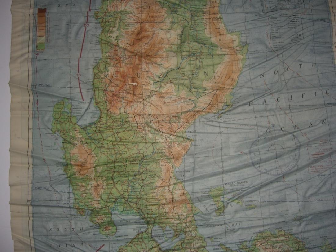 WWII Pilot Escape Survival map handkerchief map - 10