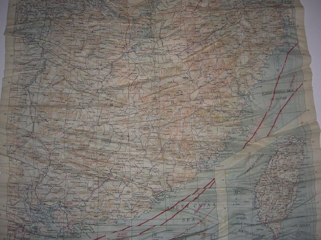 WWII Pilot Escape Survival map handkerchief map - 3
