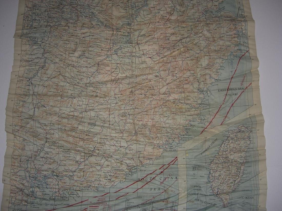 WWII Pilot Escape Survival map handkerchief map - 4