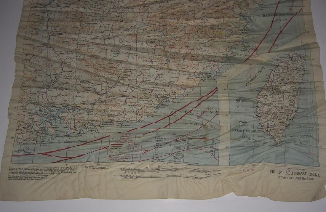 WWII Pilot Escape Survival map handkerchief map - 5