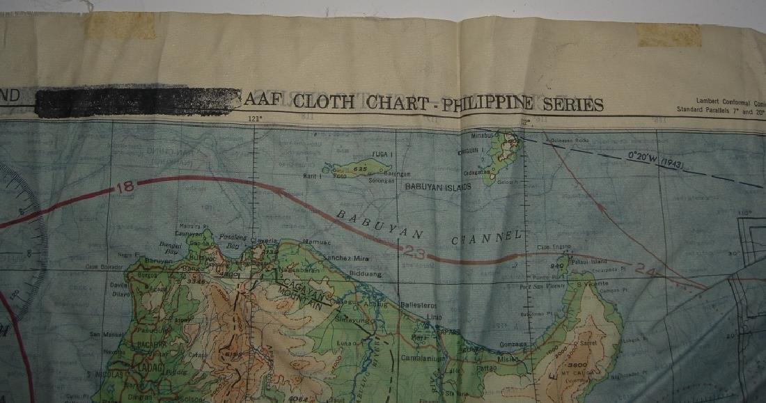 WWII Pilot Escape Survival map handkerchief map - 6