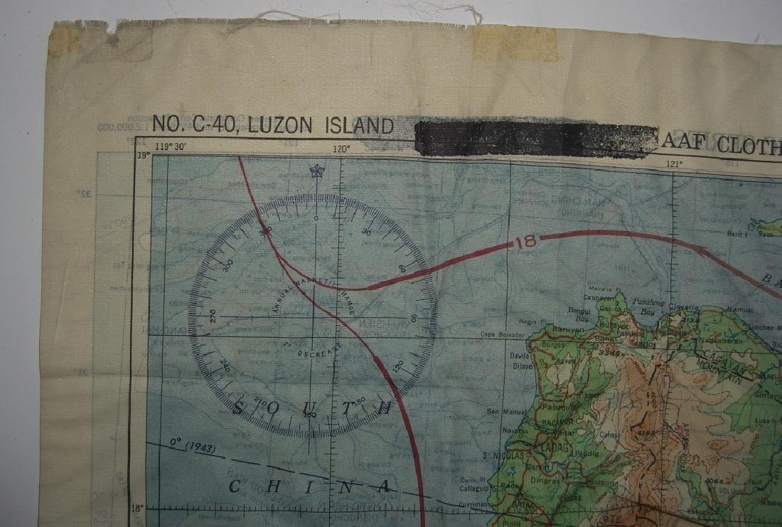 WWII Pilot Escape Survival map handkerchief map - 7