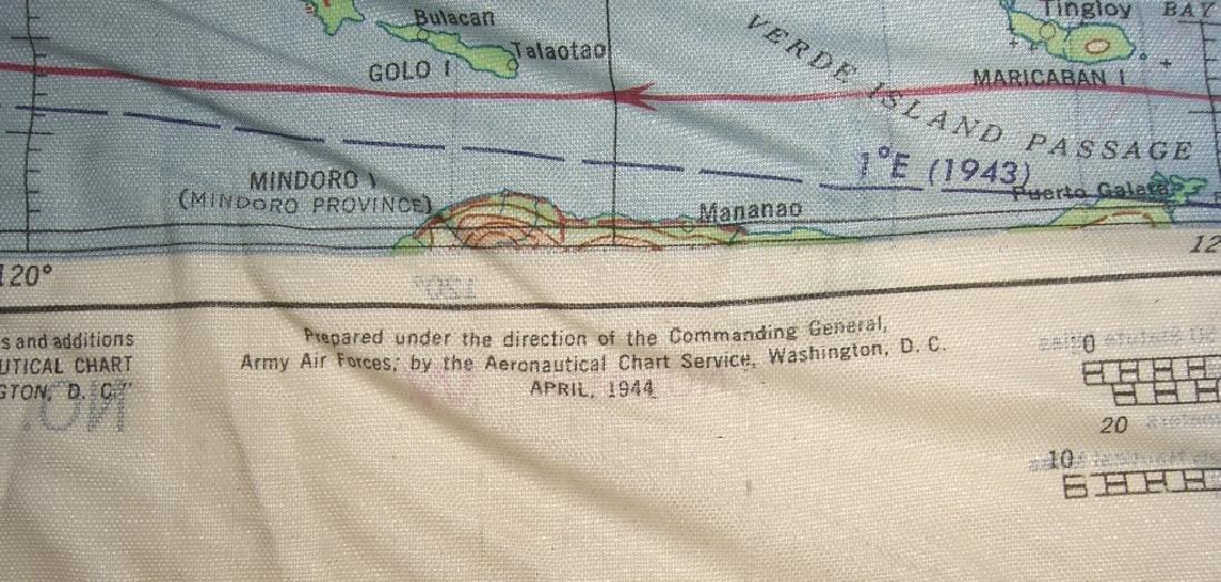WWII Pilot Escape Survival map handkerchief map - 8