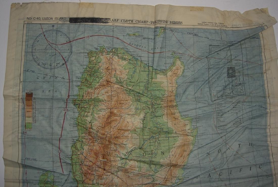WWII Pilot Escape Survival map handkerchief map - 9