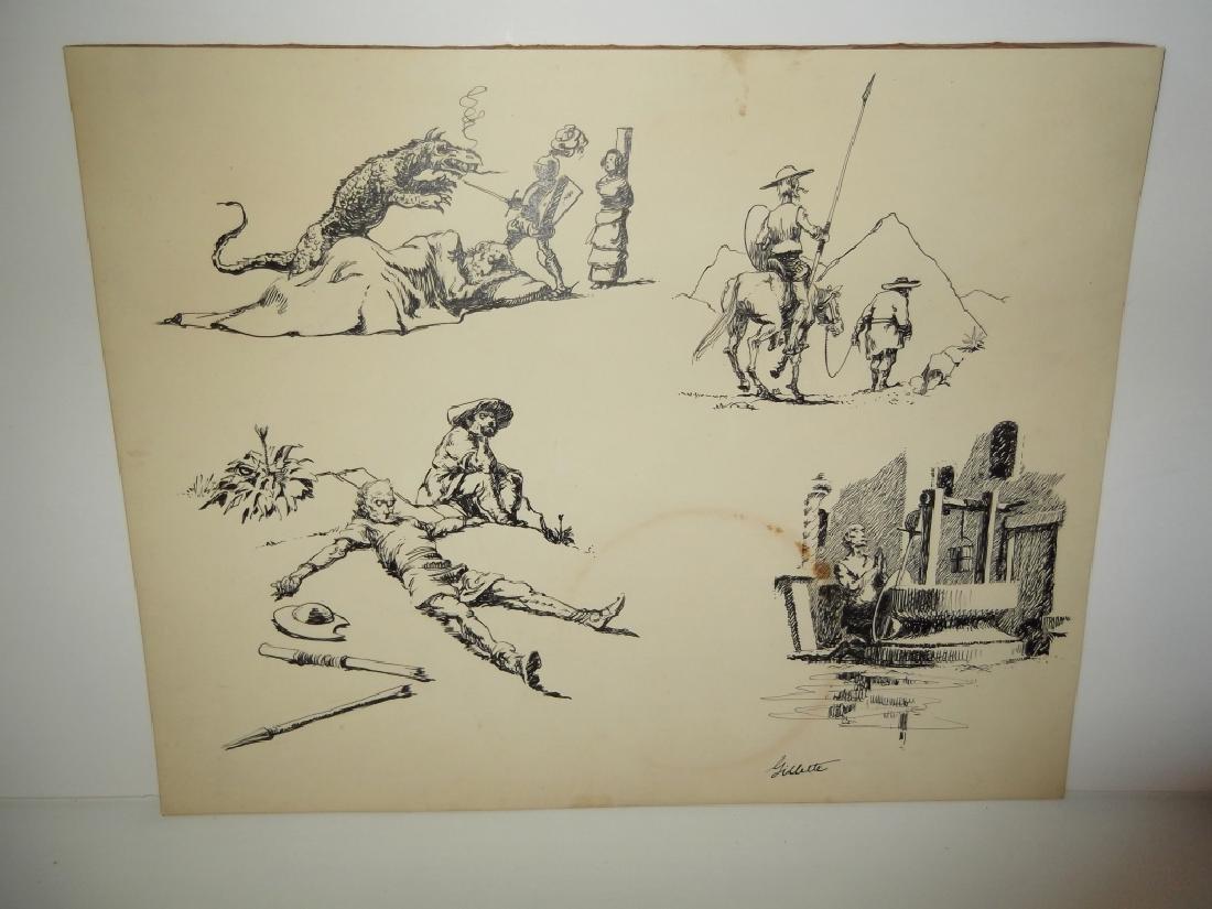 4 original pen & ink drawings - 2