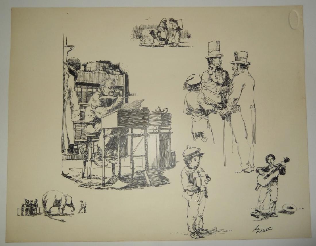 4 original pen & ink drawings - 6