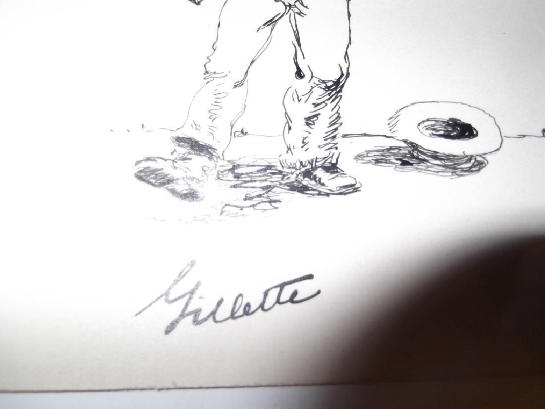 4 original pen & ink drawings - 7