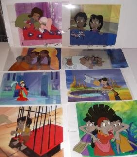 8  ANIMATION CARTOON PRODUCTION ART CELS