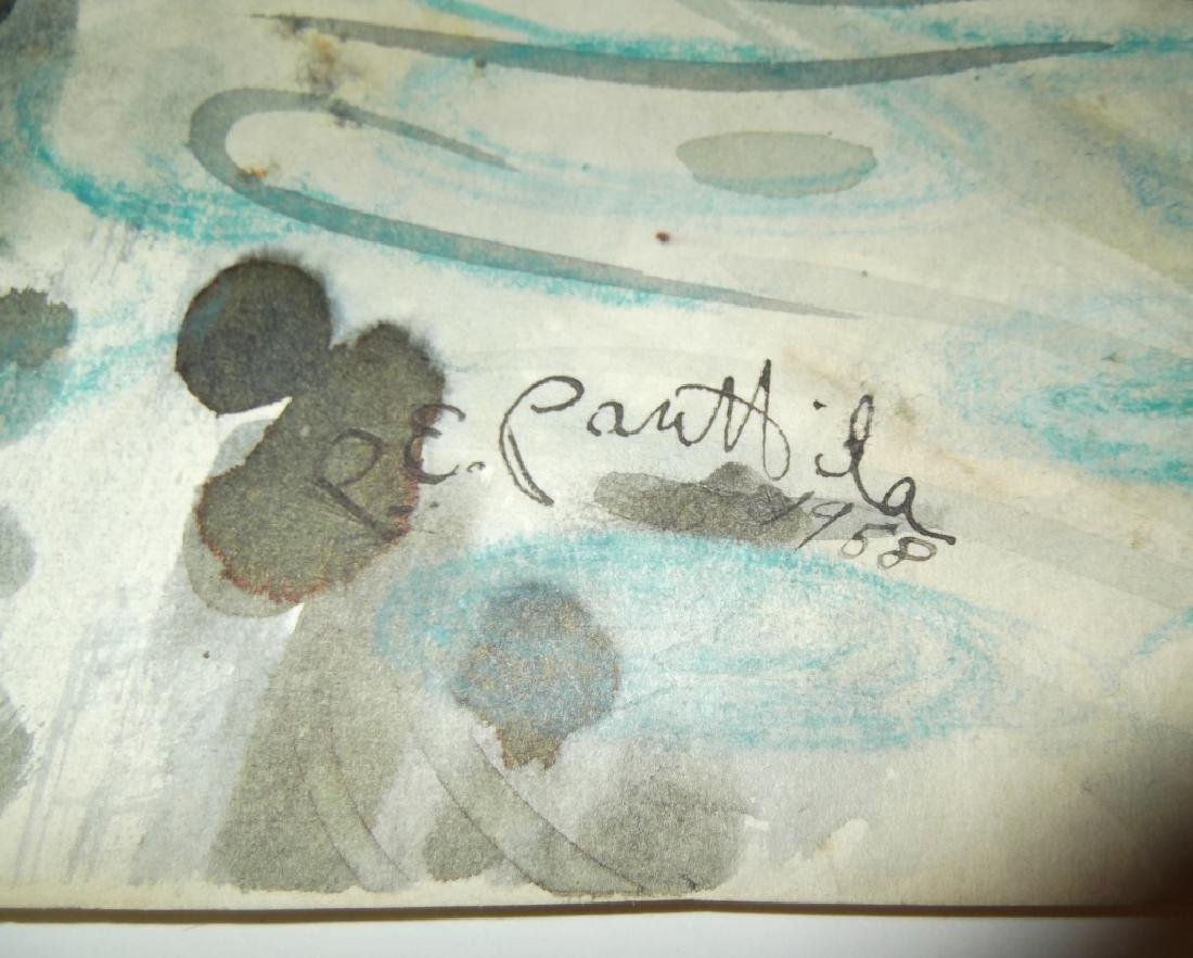 4 mixed media/watercolor artwork - 2