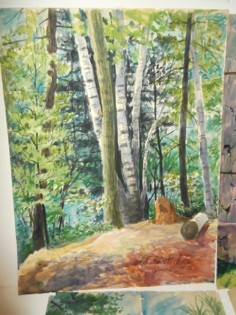 4 mixed media/watercolor artwork - 4