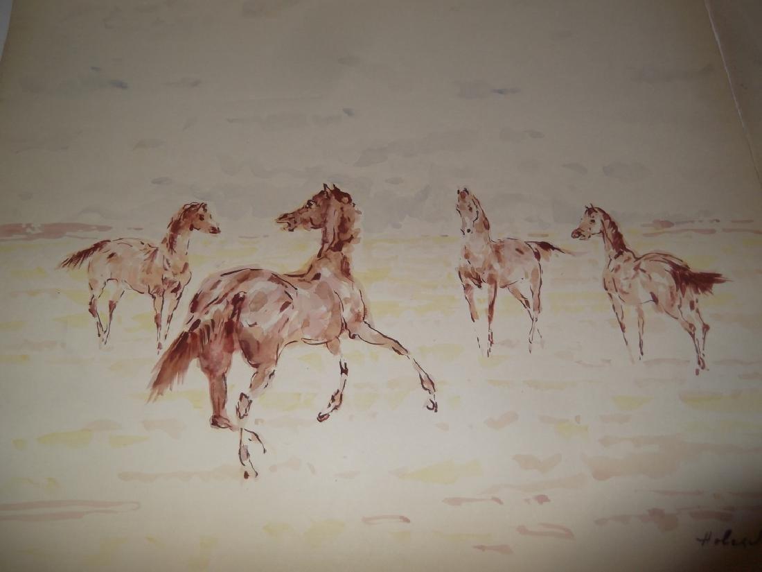 4 horse prints by  Holesch - 5