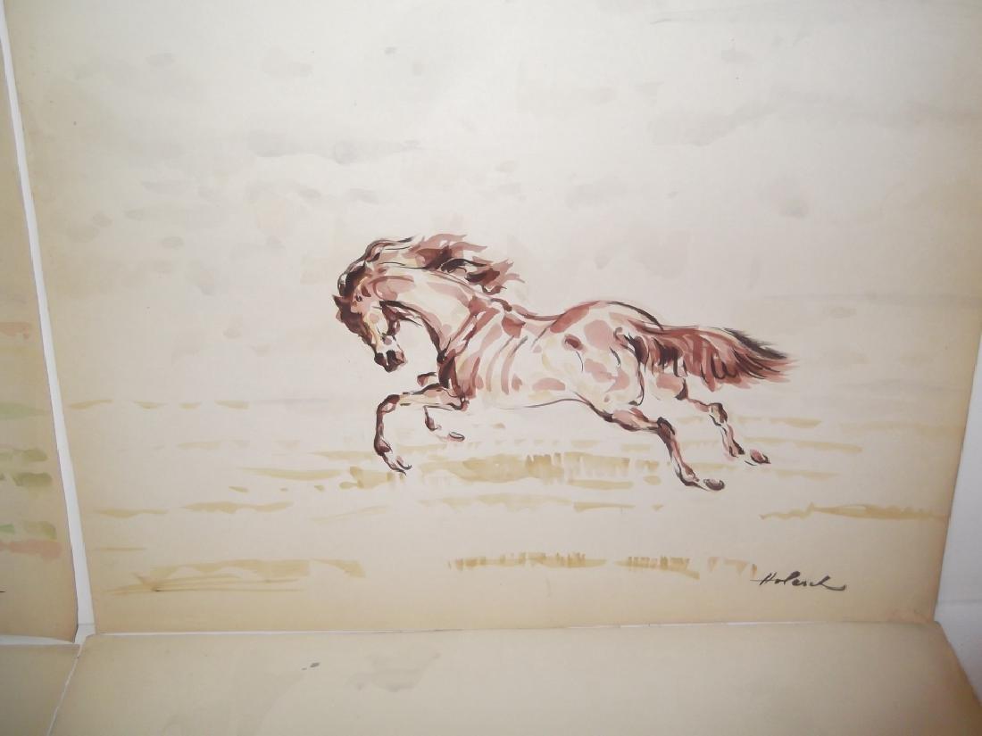 4 horse prints by  Holesch - 7