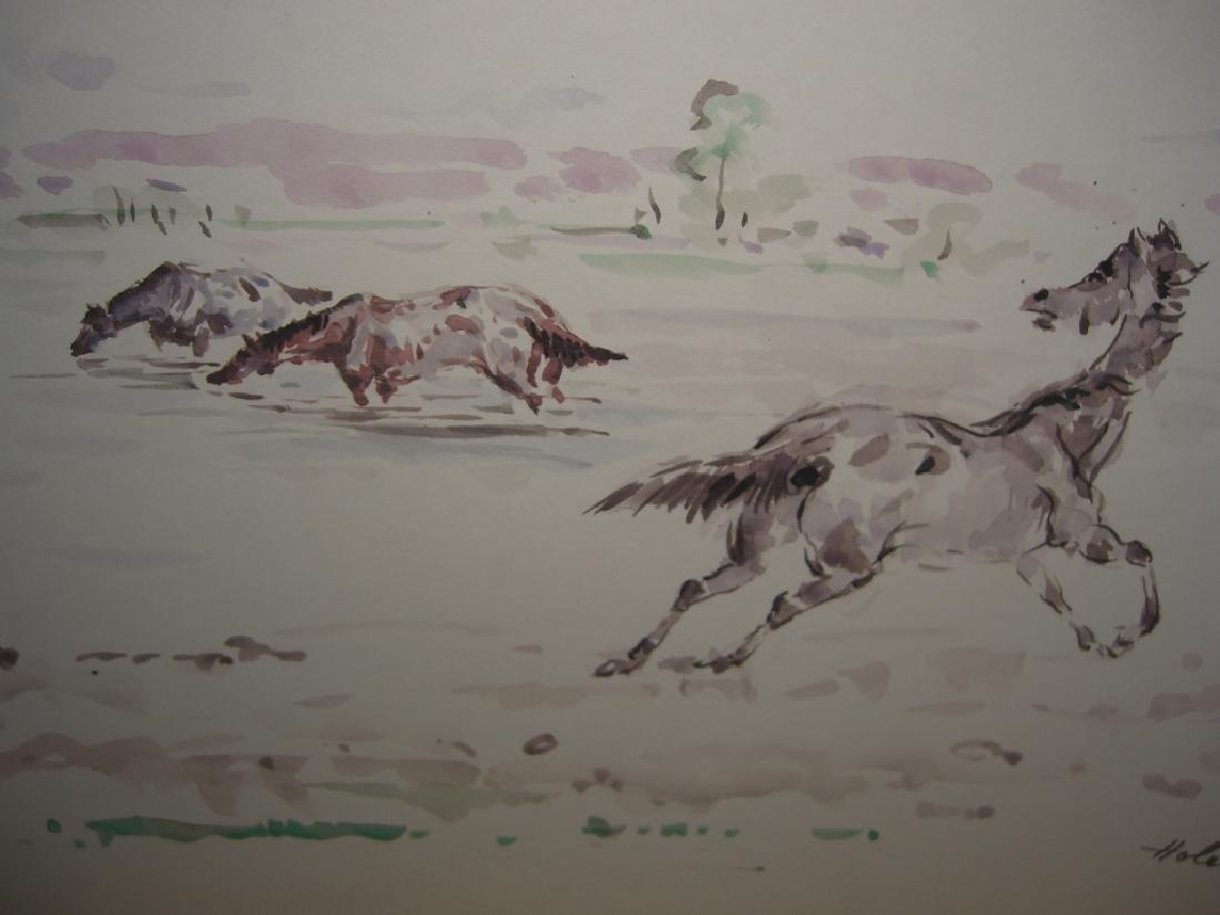 4 horse prints by  Holesch - 3