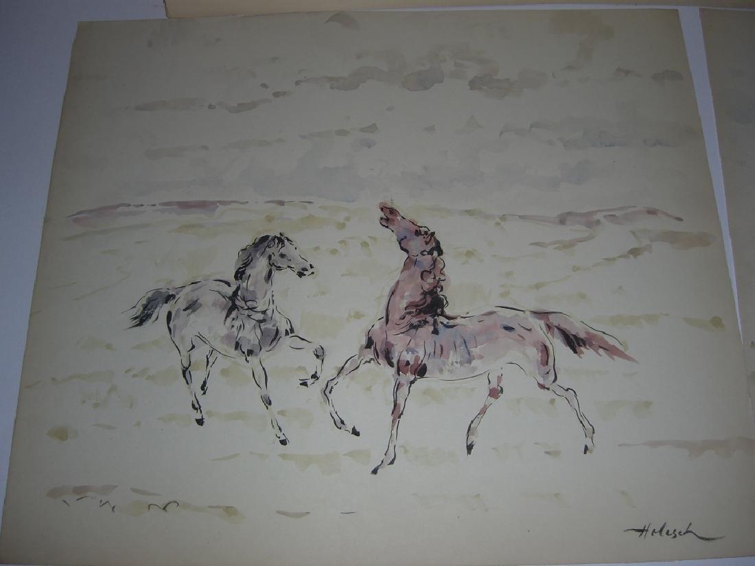 4 horse prints by  Holesch - 6