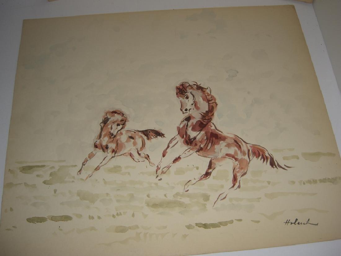 4 horse prints by  Holesch - 9