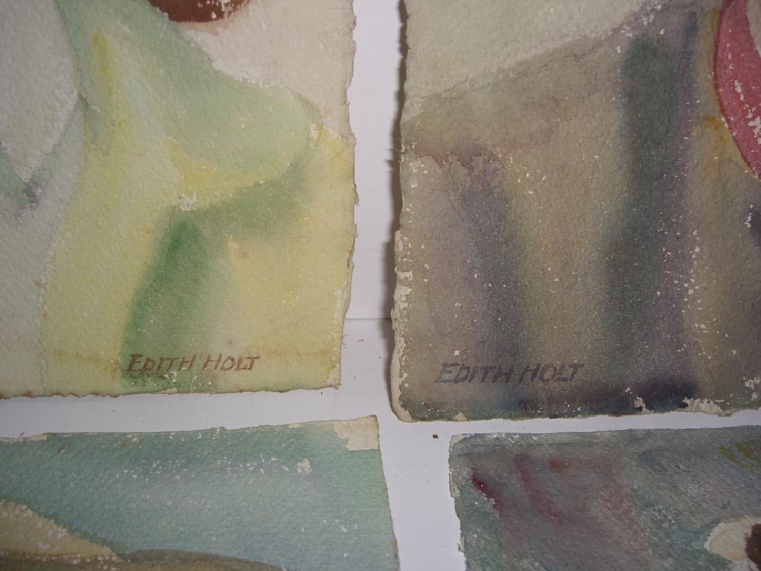 6 watercolor portrait  paintings - 4