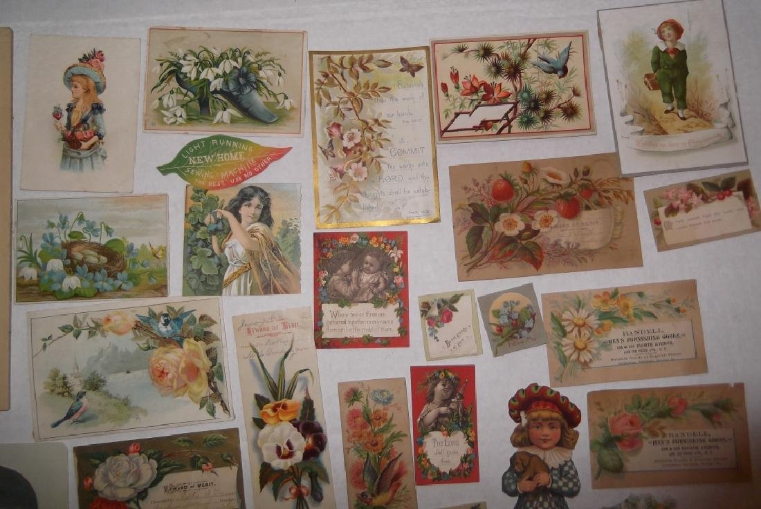 50 advertising  cut-outs; trade cards - 10
