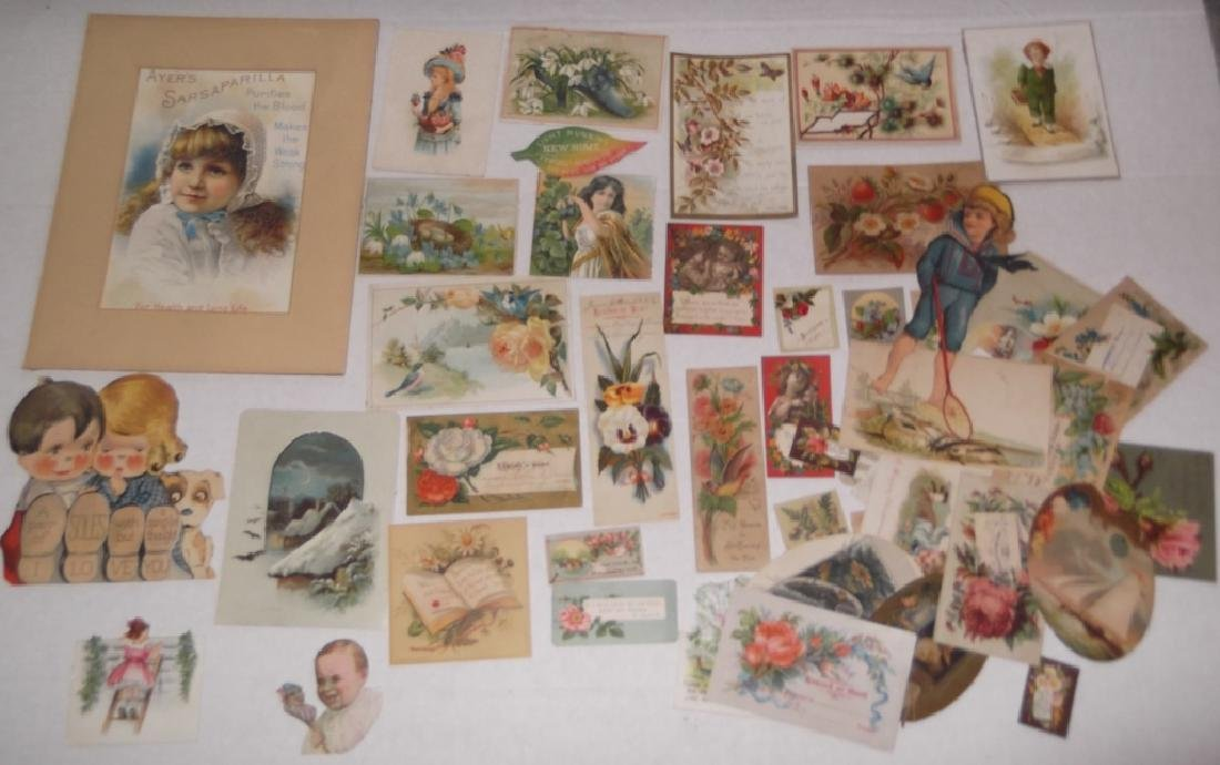 50 advertising  cut-outs; trade cards