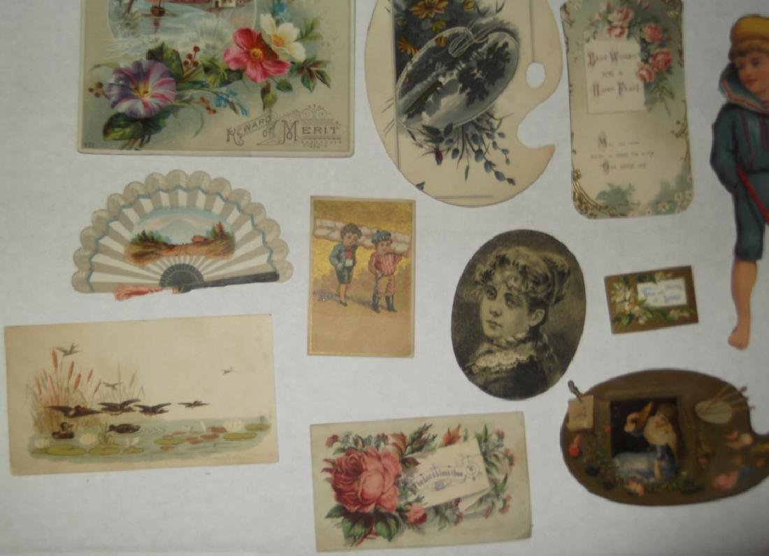 50 advertising  cut-outs; trade cards - 2