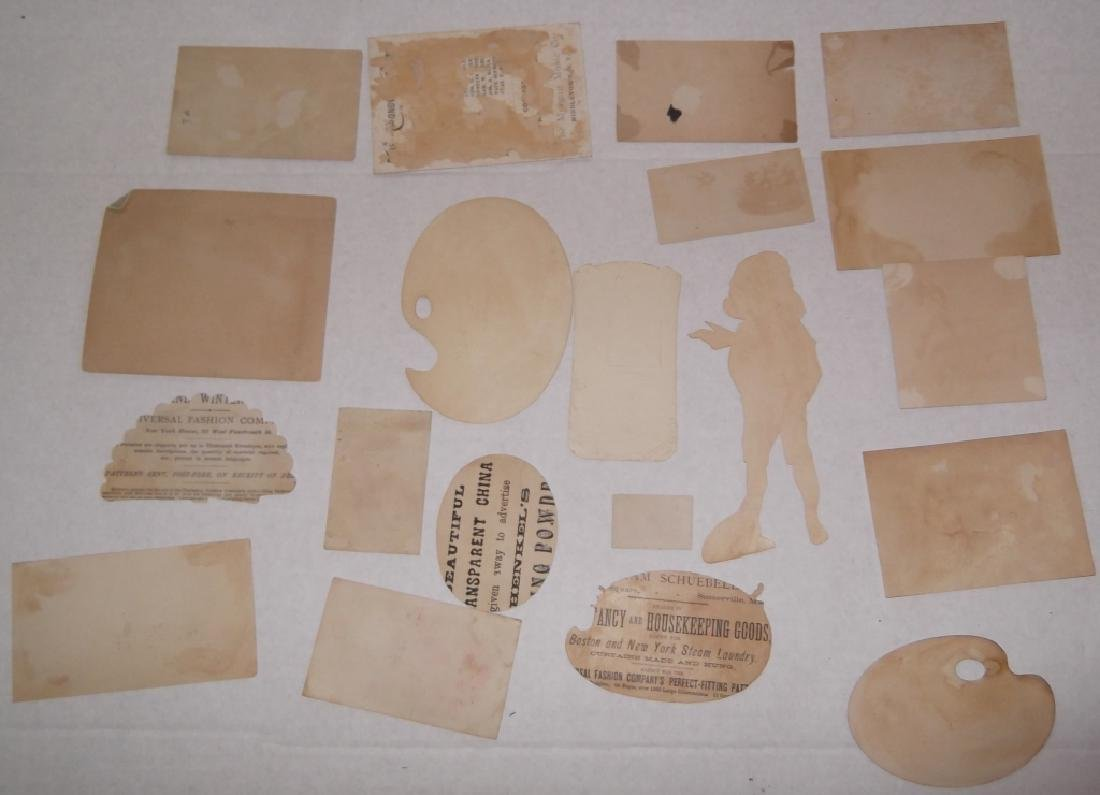 50 advertising  cut-outs; trade cards - 6