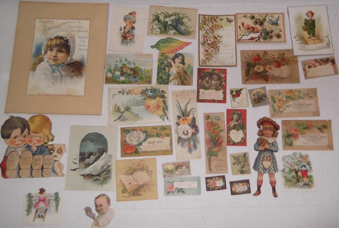 50 advertising  cut-outs; trade cards - 7