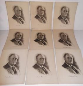 9 Franklin Roosevelt prints