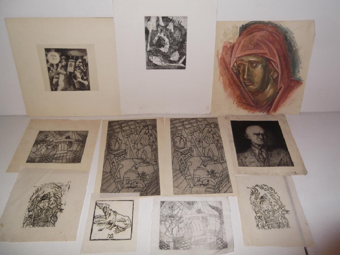 11 piece assorted artwork lot