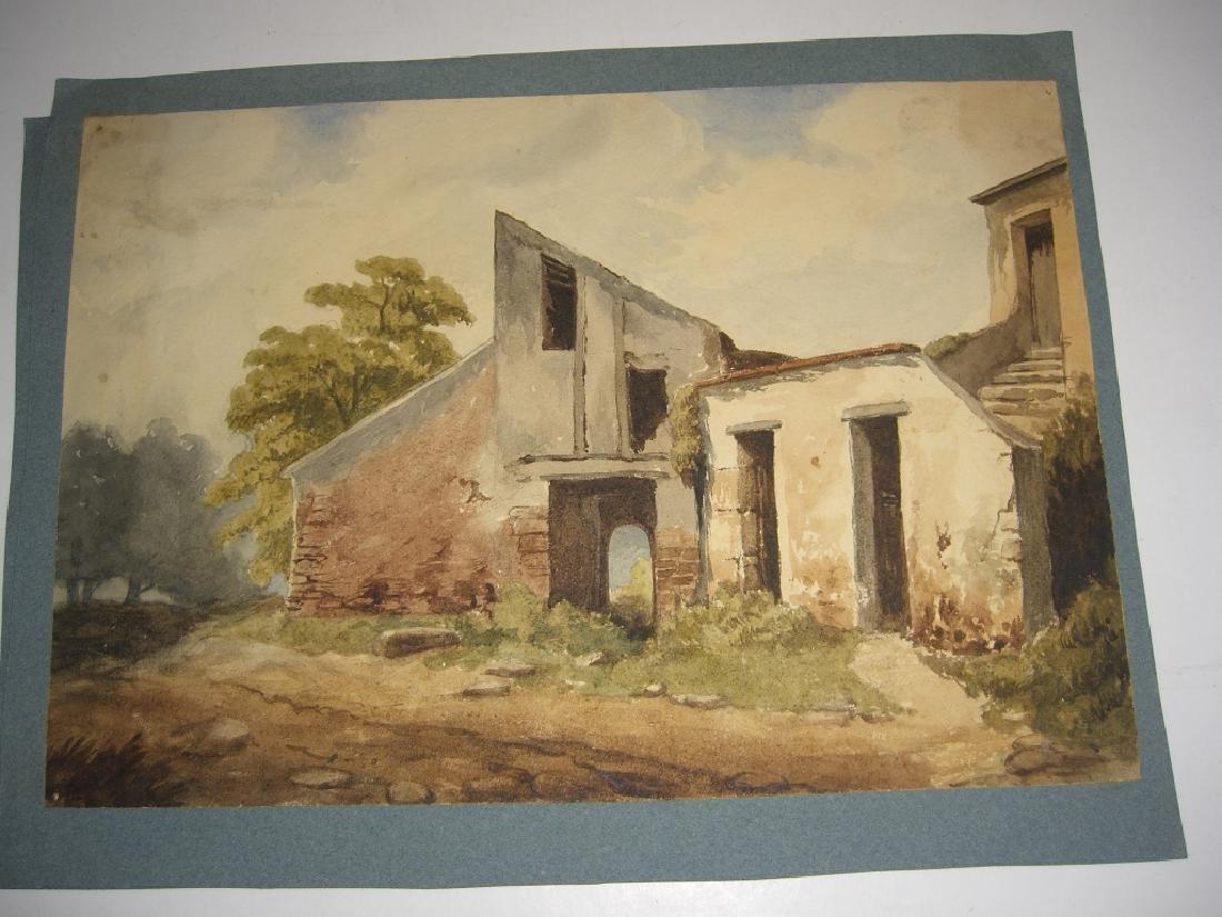 4 19th/20th c. watercolors - 2