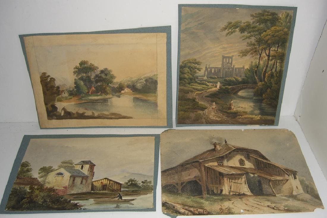 4 19th/20th c. watercolors