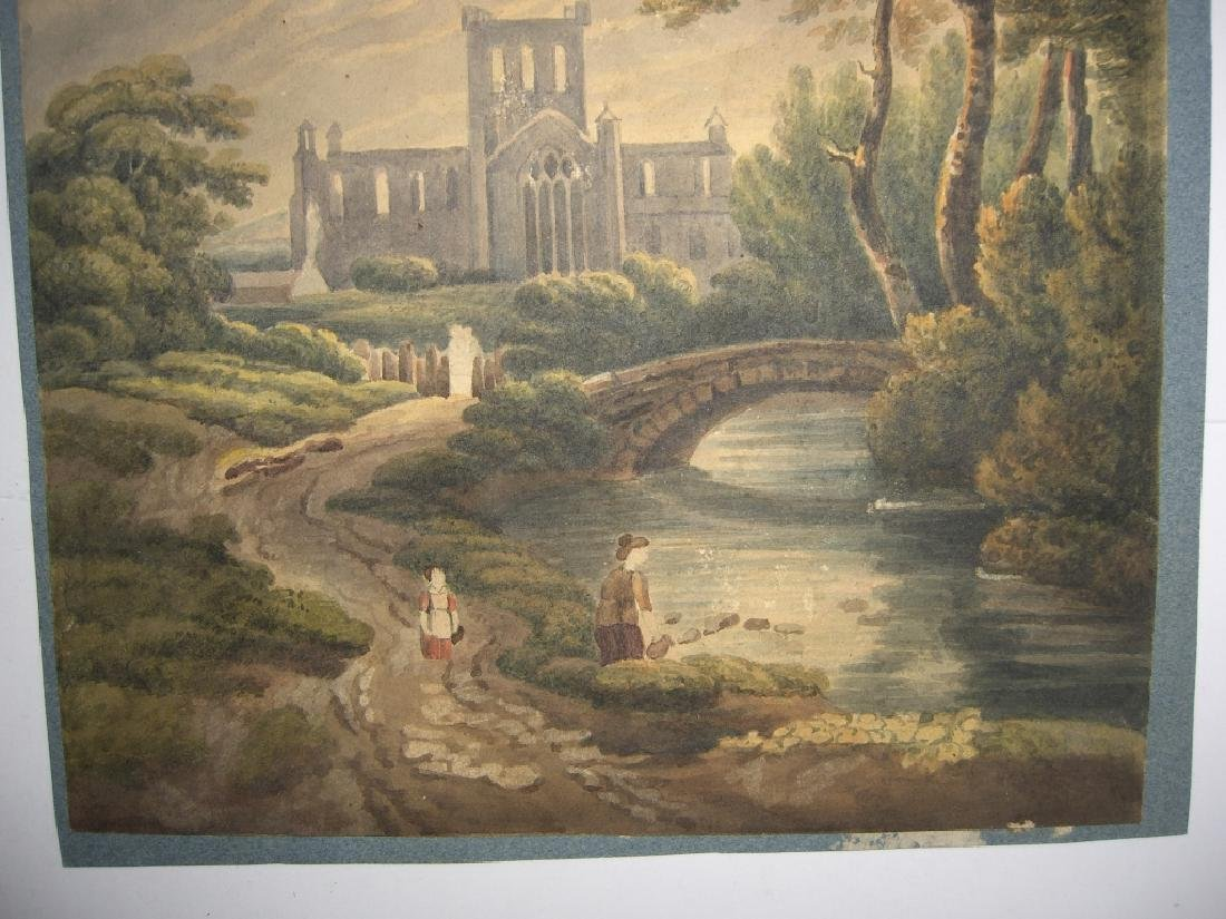 4 19th/20th c. watercolors - 3
