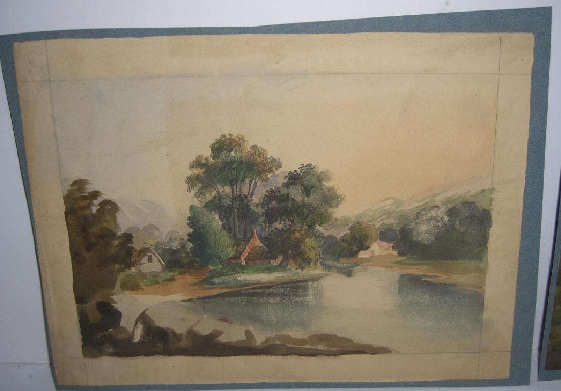 4 19th/20th c. watercolors - 6