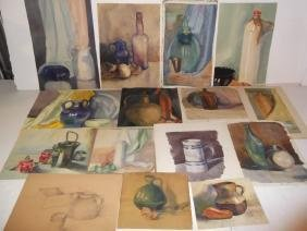 15 watercolor still life studies