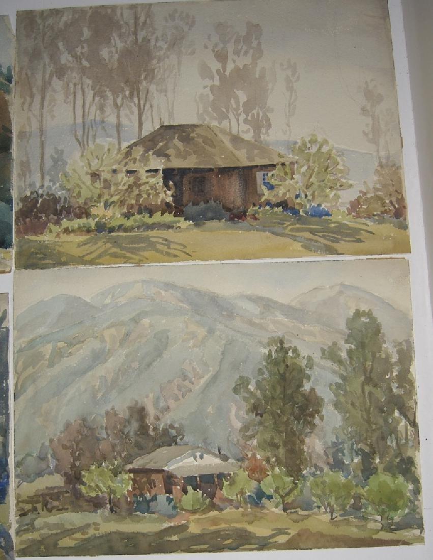 8 watercolor landscape paintings - 2
