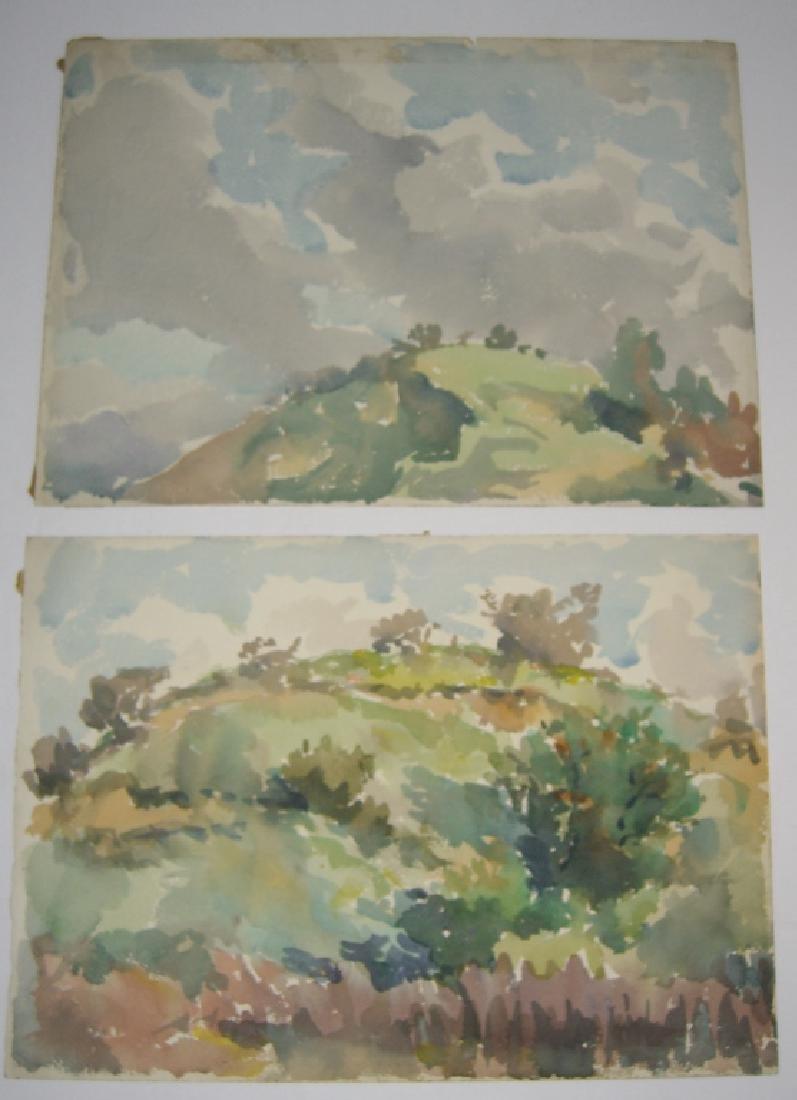 8 watercolor landscape paintings - 3
