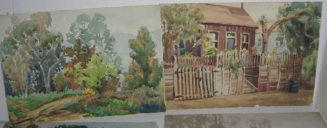 8 watercolor landscape paintings - 4