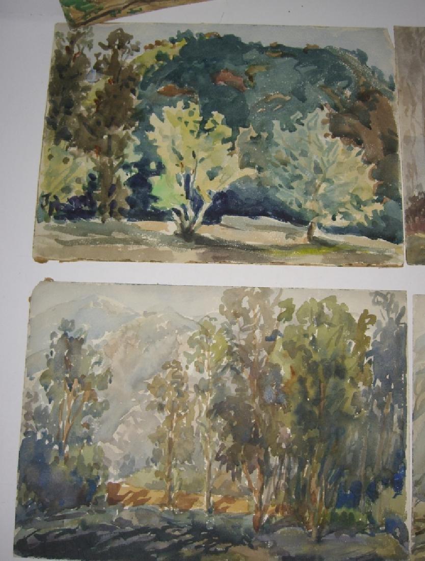 8 watercolor landscape paintings - 5