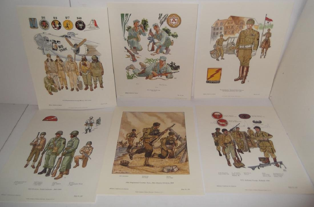 35 military uniforms in America prints - 2