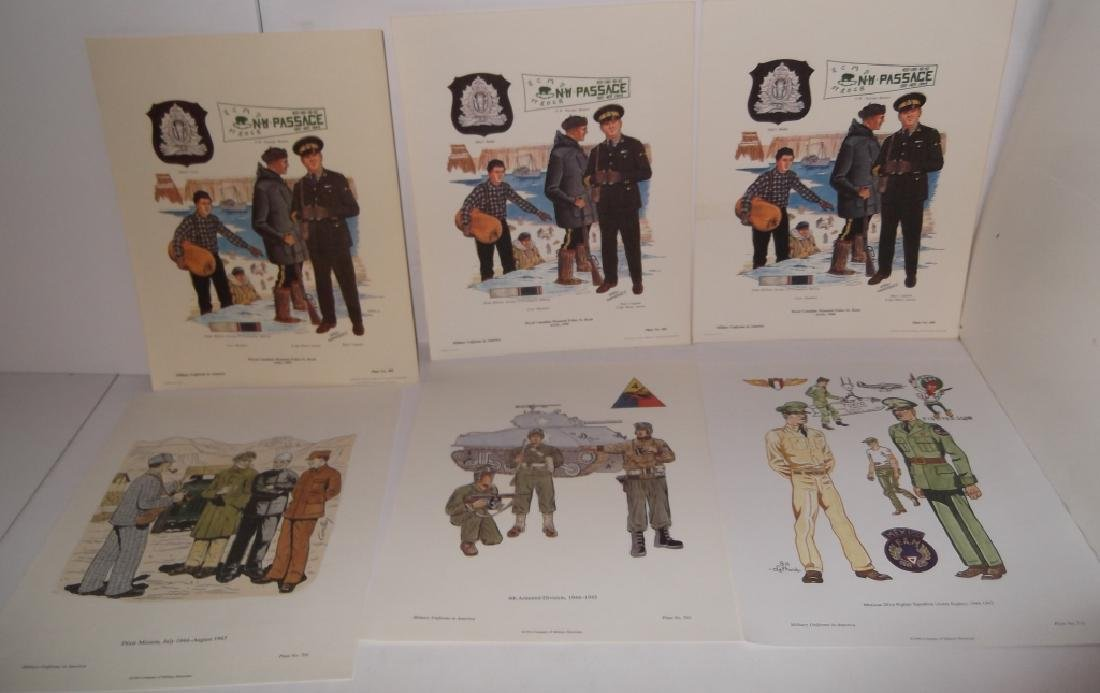 35 military uniforms in America prints - 3